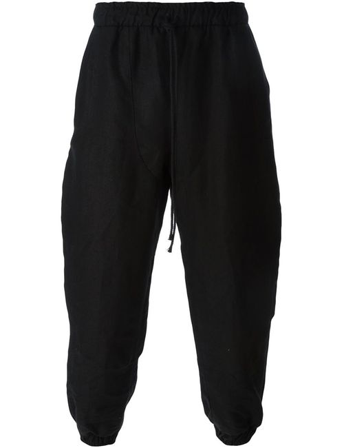LIAM HODGES | Мужское Чёрный Cotton Elasticated Trousers From