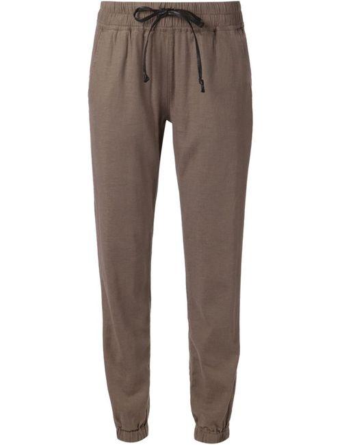Hudson   Женское Коричневый Linen Blend Addison Cropped Trousers From