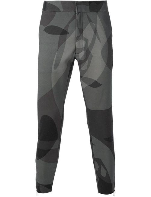 Alexander McQueen | Мужское Зелёный Abstract Print Cropped Trousers