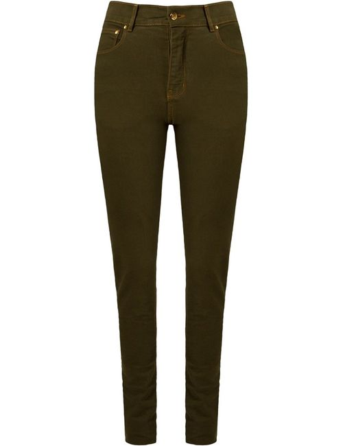 AMAPO | Женское Зелёный High Waist Skinny Trousers