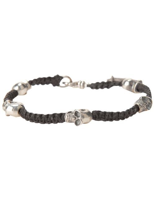 KING BABY | Женское Черный Woven Bracelet From Featuring Skull Charm Detailing