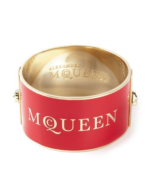 Alexander McQueen | Женский Розовый Браслет С Принтом Логотипа