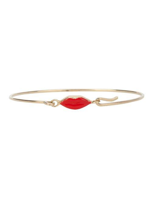 Delfina Delettrez   Женское Серебристый Grandma Lips Bracelet