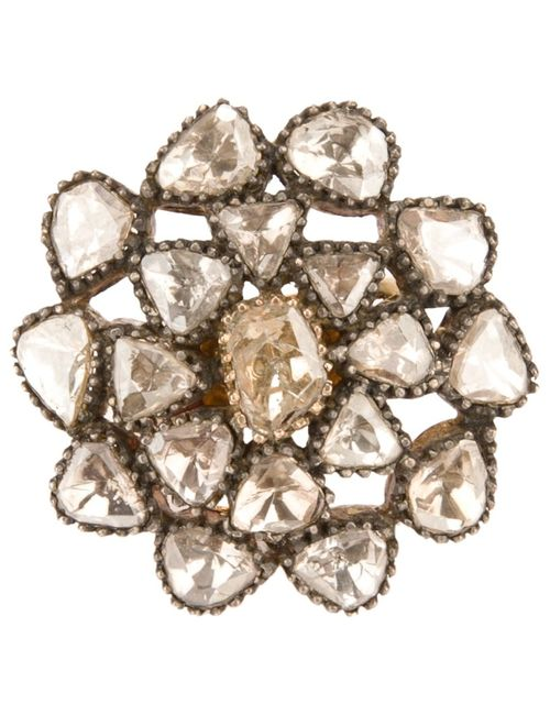 PETRALUX | Женское Серебристый 18ct Vintage Flower Ring From Featuring Cut