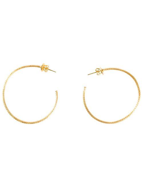MARIE HELENE DE TAILLAC | Женское Серебристый 22kt Hoop Earrings From Featuring A Post