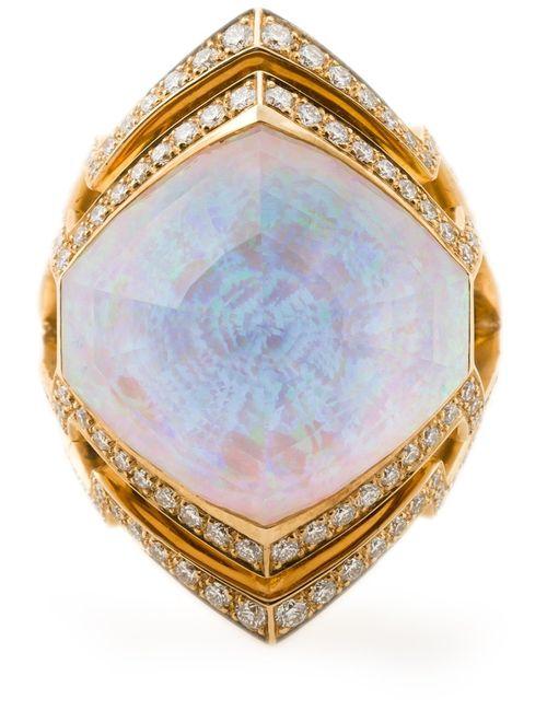 Stephen Webster   Женское Серебристый 18kt 1415gm Small Crystal Haze Ring From