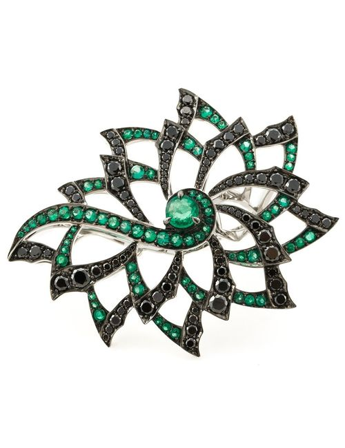 Stephen Webster | Женское Серебристый 18kt Diamond Flower Ring From Featuring Pave
