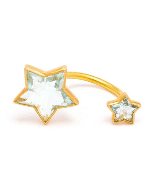 MARIE HELENE DE TAILLAC | Женское Зелёный 18kt Double Star Aquamarine Ring