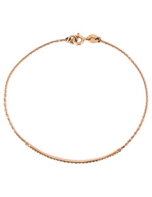 WOUTERS & HENDRIX GOLD | Женское Серебристый Thin Diamond Bar Chain Bracelet From Featuring