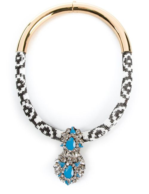 Shourouk | Женское Синий And Zulu Necklace From Featuring A Top