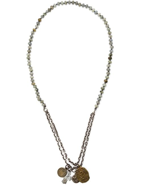 M. COHEN | Мужское Серебристый Sterling And Gemstone Beaded Charm Necklace From