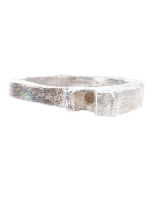 ALICE WAESE | Женское Серебристый 2 Prong Carved Ring