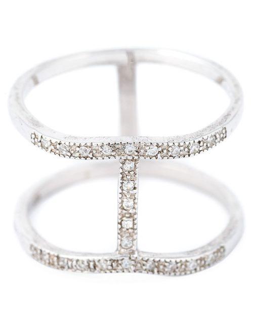V JEWELLERY   Женское Серебристый Spine Ring