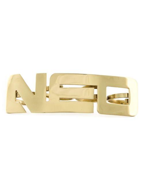 Ktz | Мужское Metallic Plated Brass Neo Finger Ring From