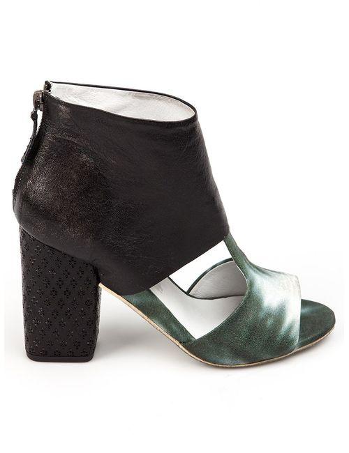Marsell | Женские Чёрные Ботинки С Вырезами И Контрастной Отделкой
