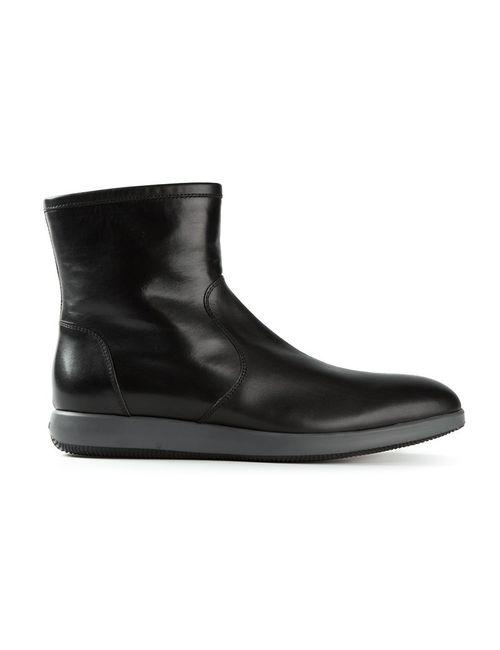 Hogan | Мужские Чёрные Ботинки По Щиколотку С Резиновой Подошвой