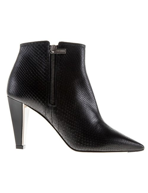 Jimmy Choo | Женское Чёрный Leather Hughie Boots From Featuring A Pointed