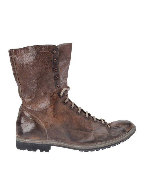 GUIDI | Мужские Коричневые Ботинки С Потёртостями