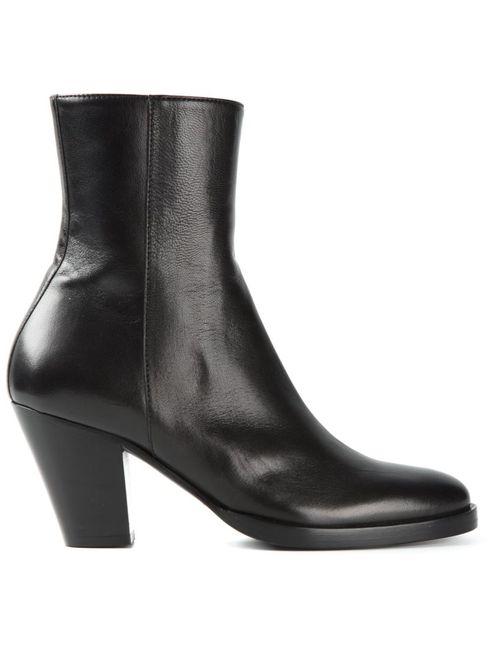 A.F.Vandevorst | Женские Чёрные Ботинки На Массивном Каблуке