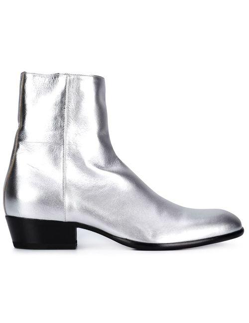 Maison Margiela | Мужские Серебристые Ботинки По Щиколотку