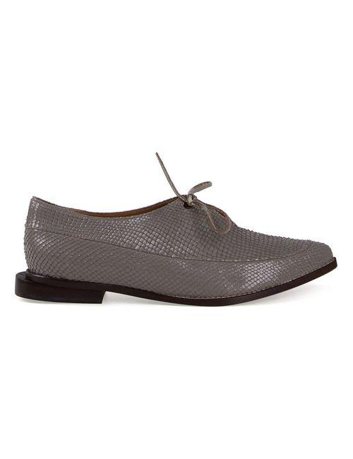 FERNANDA YAMAMOTO | Женское Серый Snakeskin Effect Lace-Up Shoes
