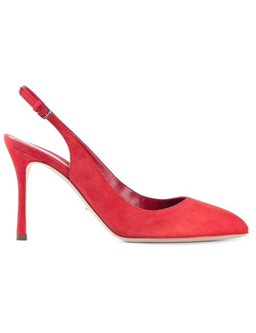 Sergio Rossi | Женские Красные Туфли С Открытой Пяткой