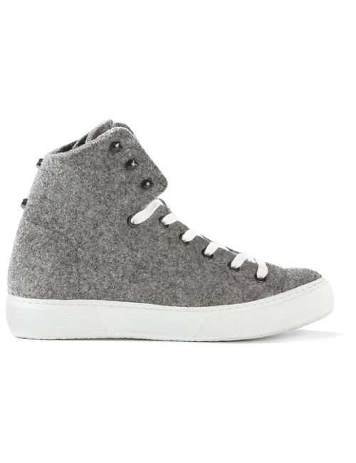 RUSSY VALENKI | Женское Серый Wool Boy Hi-Top Sneakers From