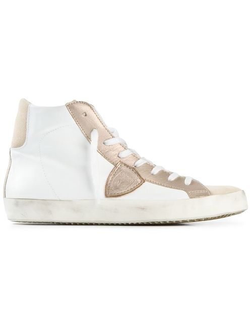 Philippe Model | Женское Белый And Calf Leather Panelled Hi-Top Sneakers From