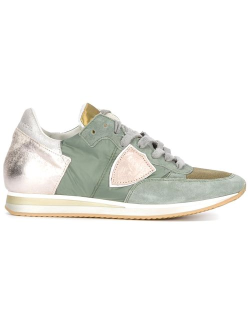 Philippe Model | Женское Leather And Suede Panelled Lace-Up Sneakers From