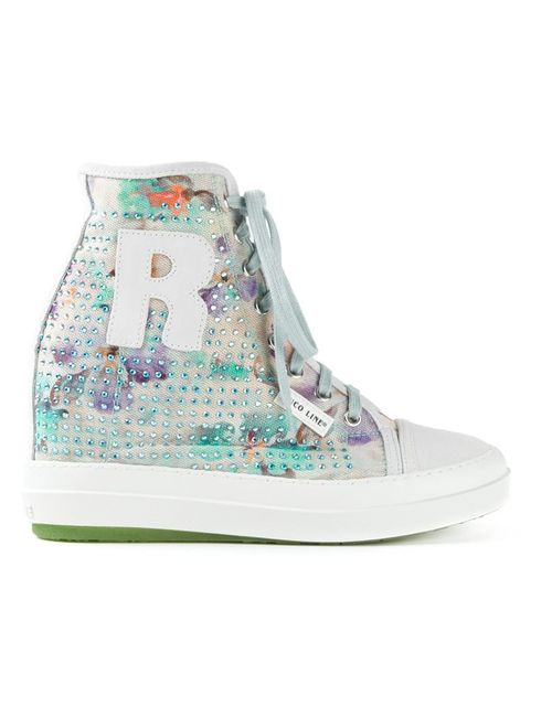Ruco Line | Женское Multicolour Multicoloured Cotton Leather And Suede Ariel Hi-Top