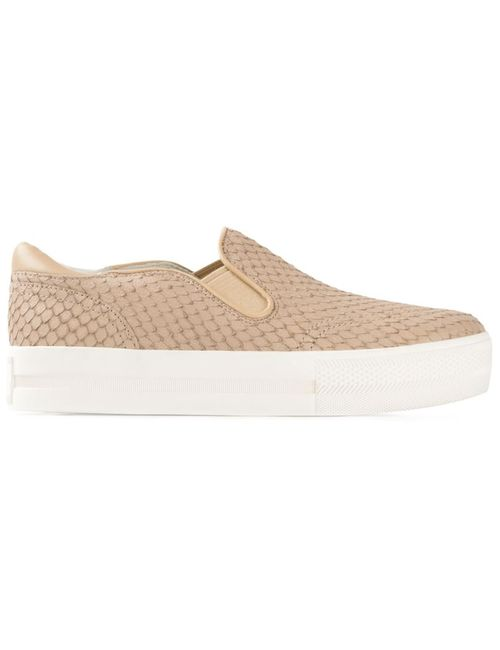 Ash | Женское Taupe Leather Jungle Slip-On Sneakers From