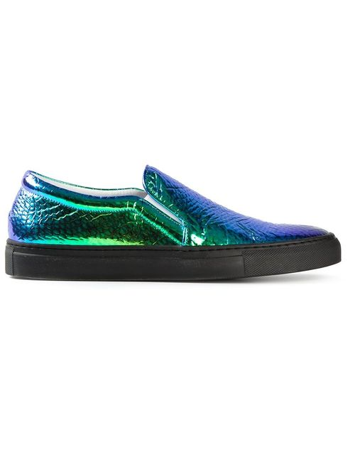 Joshua Sanders | Мужское Зелёный Vipera Hologram Slip On Sneakers