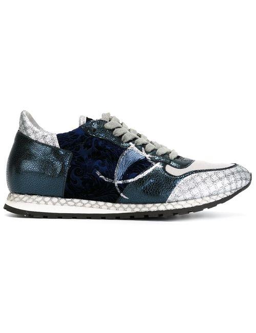Philippe Model | Женское Серый Velvet Panelled Sneakers