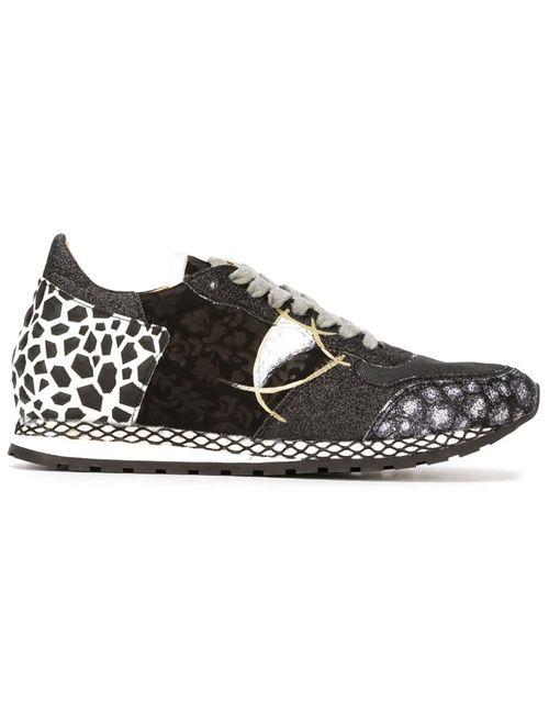 Philippe Model | Женские Чёрные Кроссовки С Панельным Дизайном