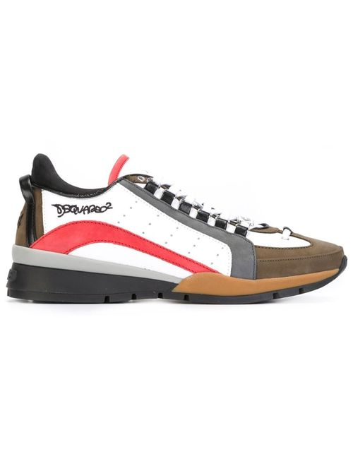 Dsquared2 | Мужское Multicoloured Leather Colour Block Sneakers From Featuring