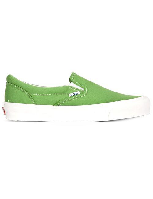 Vans | Мужские Зелёные Классические Кеды Слип-Он