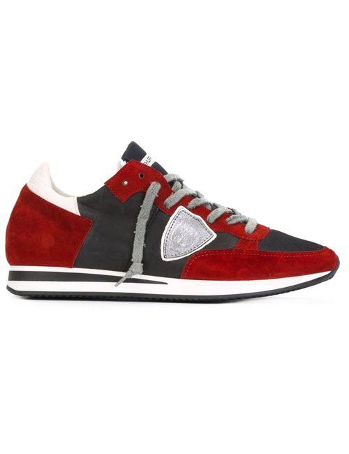 Philippe Model | Мужские Красные Кроссовки С Панельным Дизайном