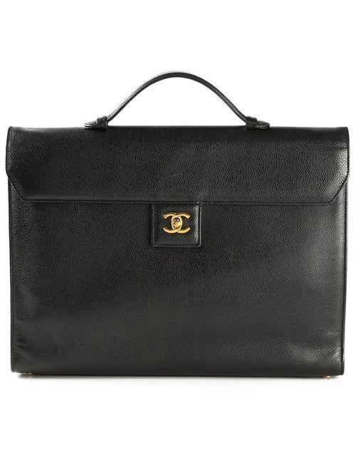 Chanel Vintage | Женский Чёрный Портфель С Логотипом