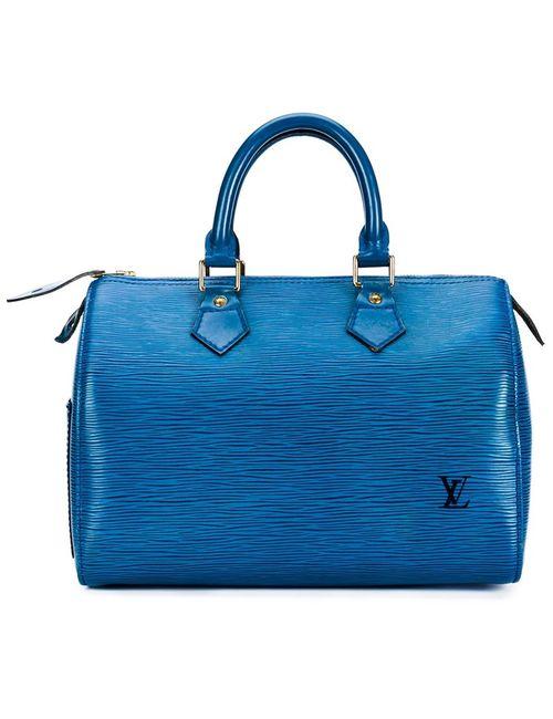 LOUIS VUITTON VINTAGE | Женская Синяя Фактурная Сумка-Тоут