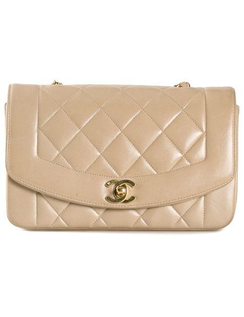 Chanel Vintage | Женская Сумка На Плечо В Рельефную Клетку