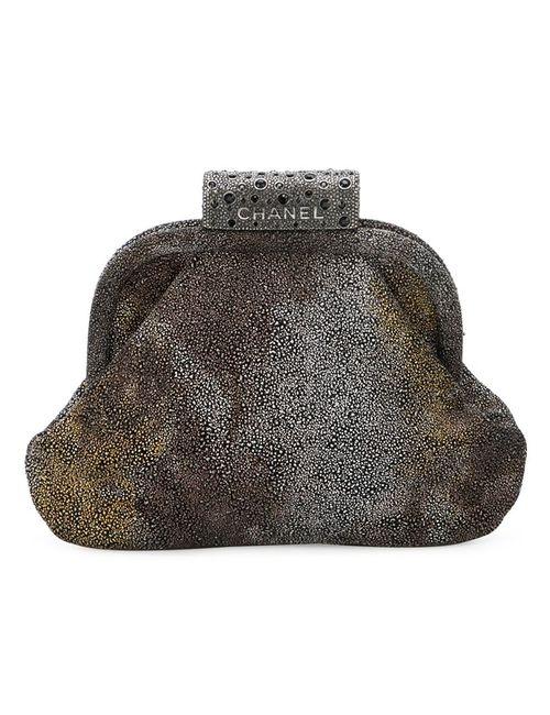 Chanel Vintage   Женский Серый Клатч С Градиентным Эффектом