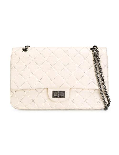 Chanel Vintage | Женская Белая Сумка С Откидным Клапаном На Плечо