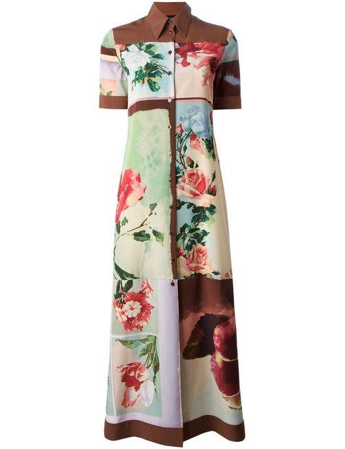 JEAN PAUL GAULTIER VINTAGE | Женское Коричневое Платье-Рубашка В Принт Nature