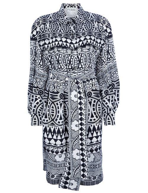 GIANFRANCO FERRE VINTAGE | Женское Черный Платье С Геометрическим Рисунком