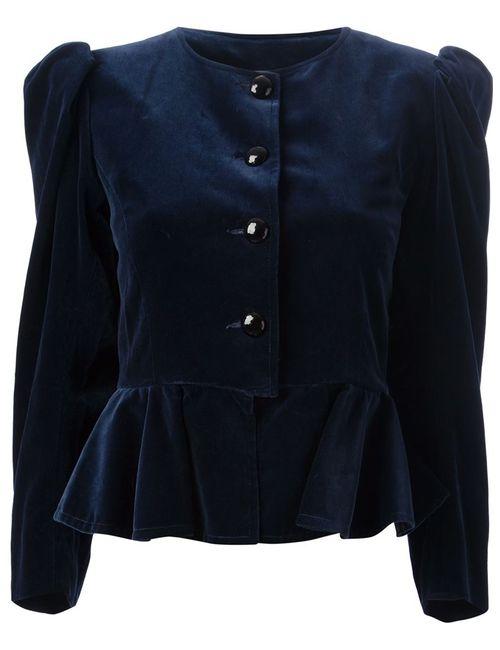 Saint Laurent | Мужское Синий Peplum Jacket