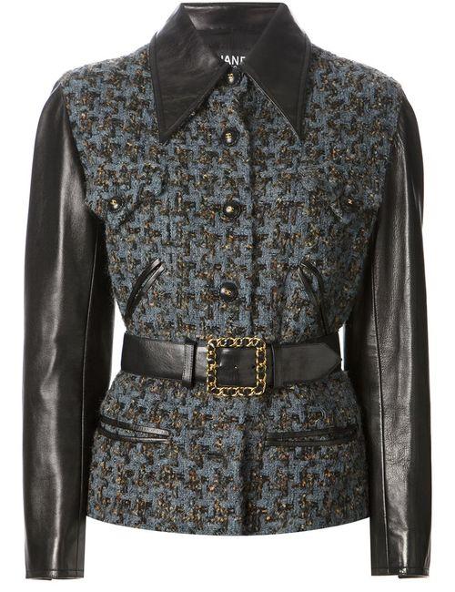 Chanel Vintage | Женская Синяя Куртка-Букле