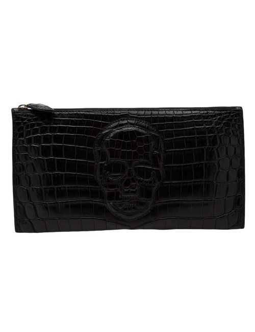 Lucien Pellat-Finet | Женское Чёрный Crocodile Leather Clutch From Lucien Pellat-Finet Featuring
