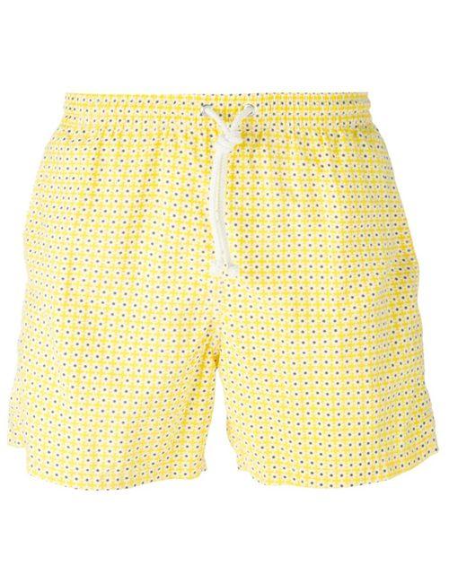 Kiton | Мужские Жёлтые Шорты Для Плавания С Цветочным Принтом