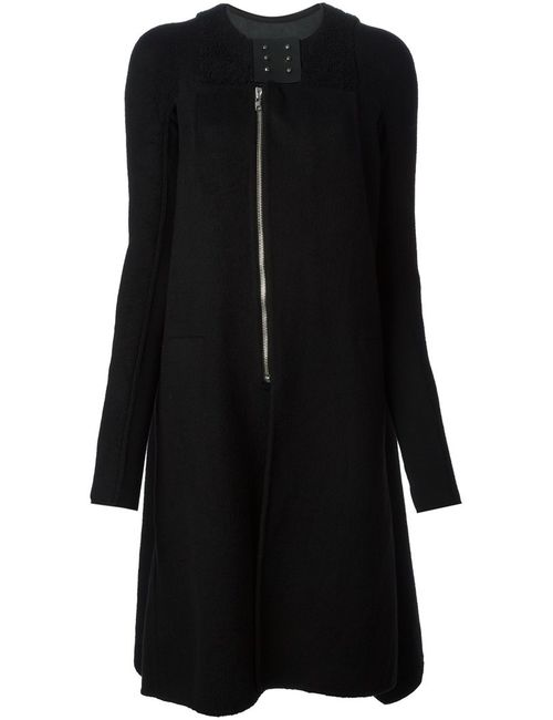 Rick Owens | Женское Чёрное Объёмное Пальто