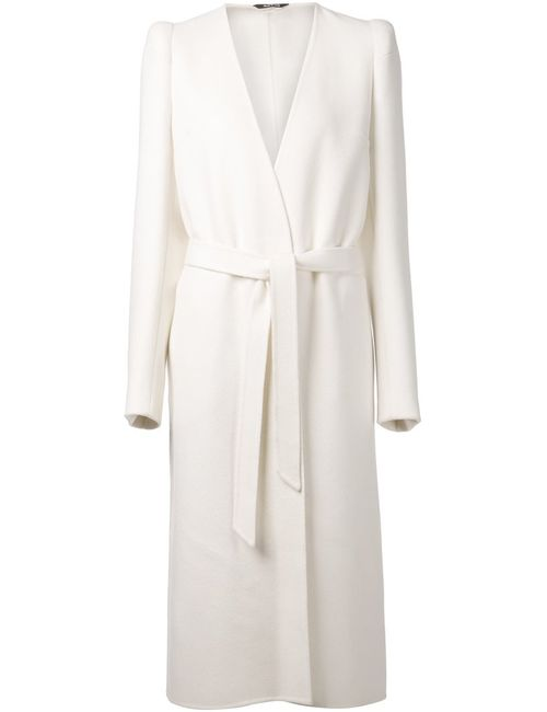 Maison Margiela | Женское Белое Длинное Пальто